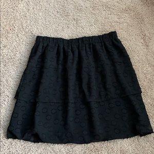 Loft pull on black mini skirt